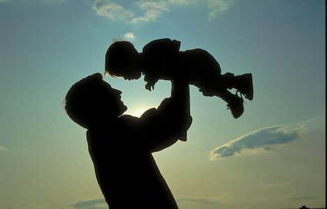 Novastock. The joy of a father's love in a family moment. father, son, child, silhouette,